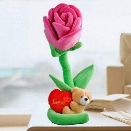 """15cm Plush Roses & 5"""" Love Bear"""