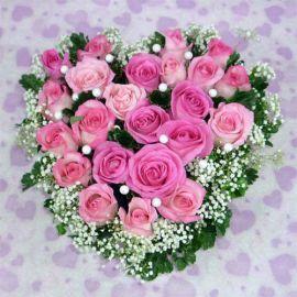 20 Bandung Pink Heart Shape Table ArrangementArrangement