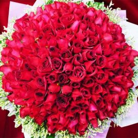199 Red Roses Hand Bouquet