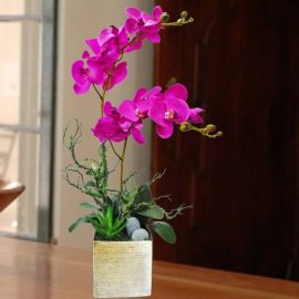 Artificial Phalaenopsis Orchid Arrangement