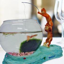 Fishing Cat Series Mini Aquarium