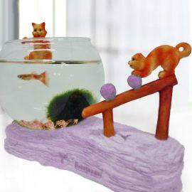 Rolling Rock Cat Series Mini Aquarium
