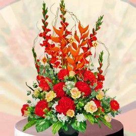 Joyful Artificial Lunar New Year Flowers Arrangement