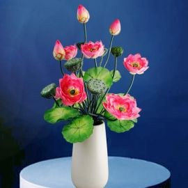 Artificial Water Lilies Table Arrangement