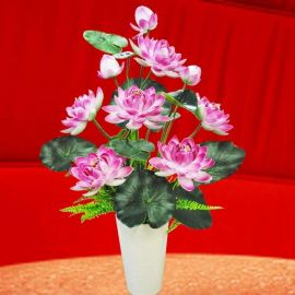 Artificial Lotus Flowers Table Arrangement 75cm Height