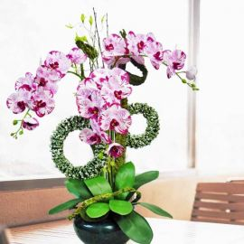 Artificial Orchid Flowers Table Arrangement 80cm Height
