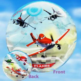 Add-On 22 Inches Helium Filled Round (Planes) Floating Bubble Balloon