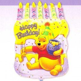 Add On Winnie The Pooh Cake Birthday Balloon
