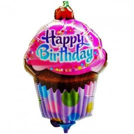 Add On Cupycake Happy Birthday Balloon