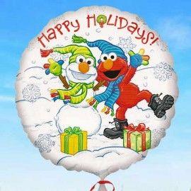 Add On Christmassy Happy Holidays Balloon (Round)