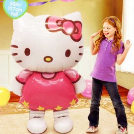 "Add-On Hello Kitty Walks On Air Balloon 50"" Tall"