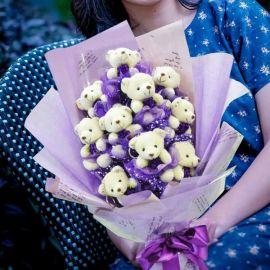 10 Mini Bear Bouquet