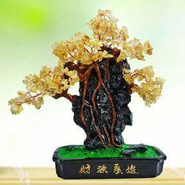 Feng Shui CITRINE Crystal Bonsai Tree 35cm Height.