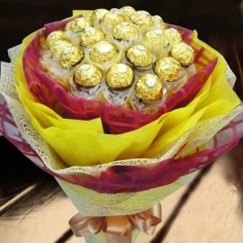 24 Ferrero Rocher Hand Bouquet Special Design