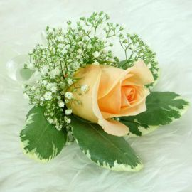 Champagne Rose Corsage