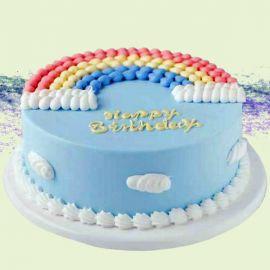 Rainbow Happy Birthday Sponge Cake 1Kg
