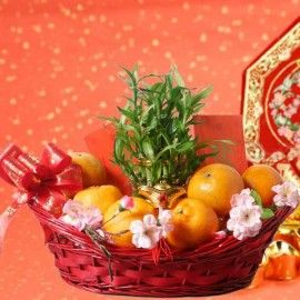 Lucky Fortune Chinese New Year Gift Basket