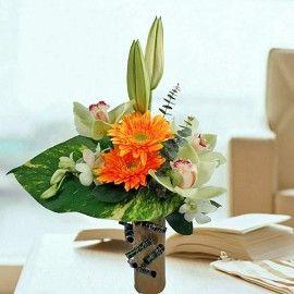 Cymbidium Orchids Standing Bouquet