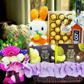 Easter Daisy Day Gift Basket