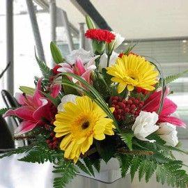 Mixed Flowers Small Arrangement By Florist Choice