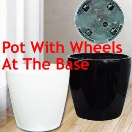 Add-On Planter Pot with wheels 35cm Diameter