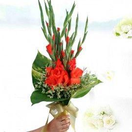 Red Gladiolus Bouquet (3Days Advance Order)