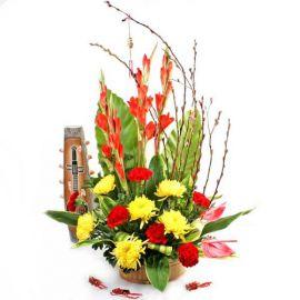 Prosperity Phoenix Basket Chinese New Year Flowers