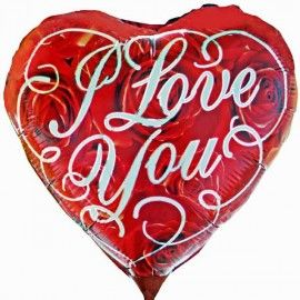 Add On I Love You Balloon (Red, Heart-Shaped)