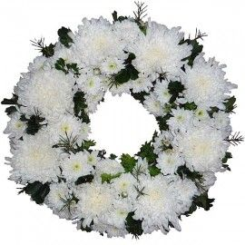 PomPom Wreath 30cm ( No Roses )
