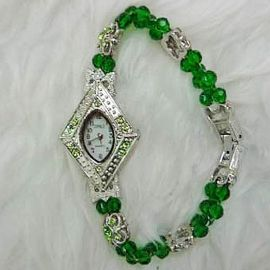 Green Crystal Watch WA025