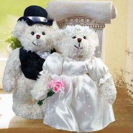 """Add-On 8"""" WEDDING Day Bride & Groom Teddy Bears"""