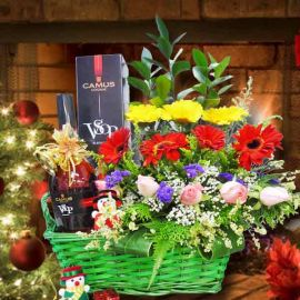 Christmas XO Flowers Table Arrangement