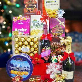 Golden Red Deluxe Christmas Gift Hamper