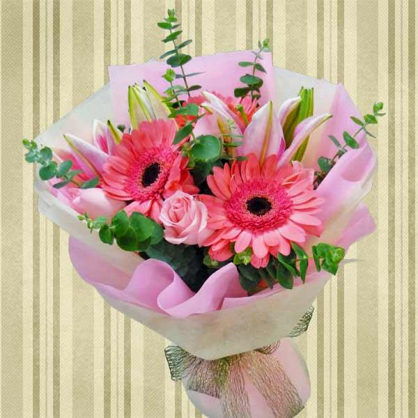 Birthday Flowers Hand Bouquet